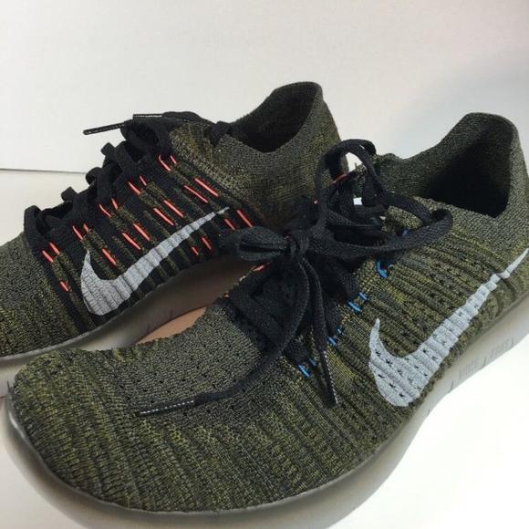 6b70475e4 Nike Shoes   Mens Free Rn Flyknit Khakigreen 105 Nwob   Poshmark